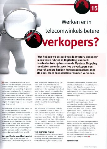 Werken er in telecom winkels betere verkopers?